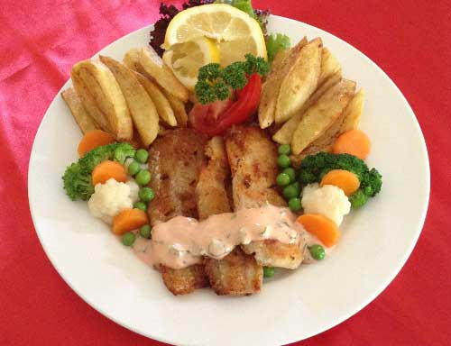 Hake Fillet with lemon sauce